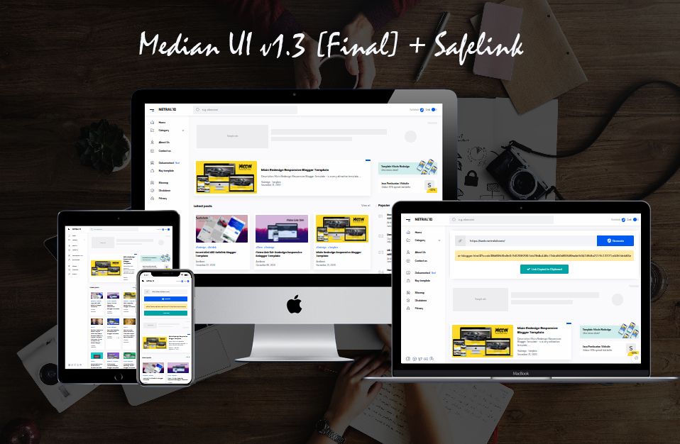 Template - Median UI v1.3 [Final] + Safelink