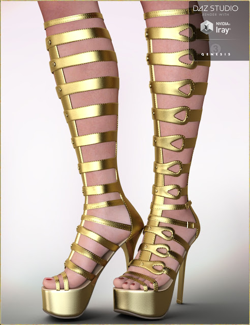 Lucia Shoes for Genesis 3 Female