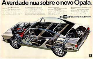 propaganda 1972 - Opala Sedan 4 portas ano 1973, GM anos 70, Chevrolet década de 70, carros Chevrolet anos 70, Oswaldo Hernandez,