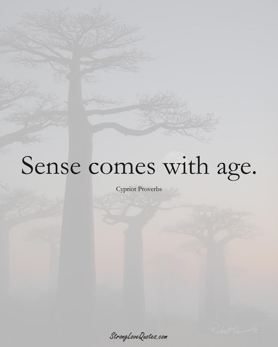 Sense comes with age. (Cypriot Sayings);  #MiddleEasternSayings