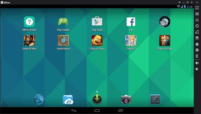 MEmu adalah emulator android paling ringan