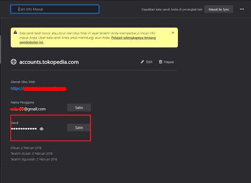 Melihat password gmail di Mozilla Firefox