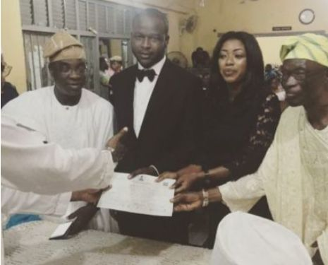 Ace Fuji Musician Kwam 1's son Yomade weds sweetheart in Lagos