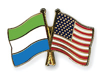 Flags Sierra Leone and United States of America