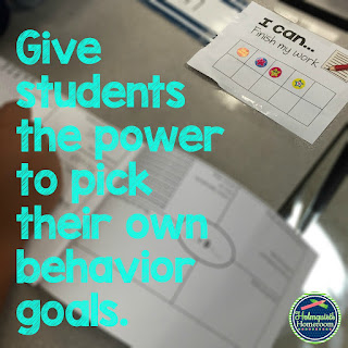 students pick behavior goals