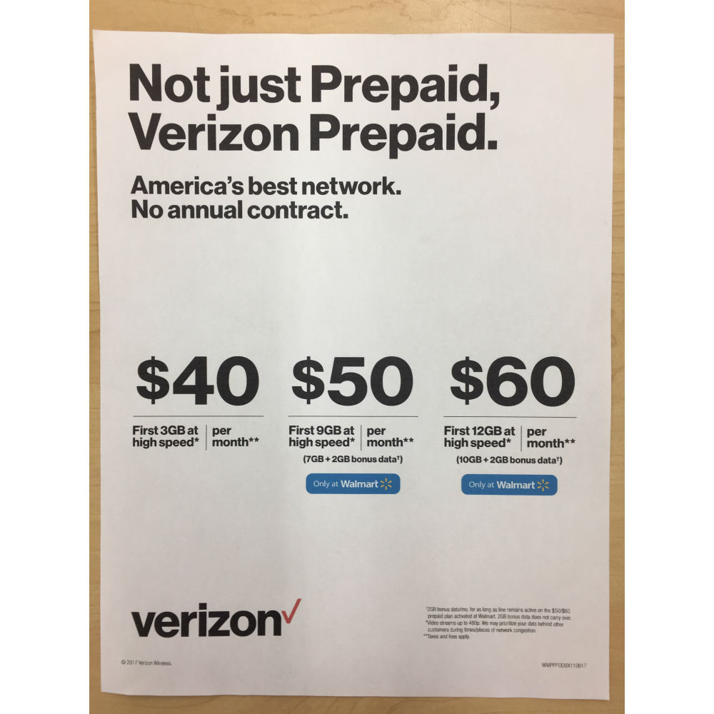 Verizon offers a wide variety of plan options including Unlimited Mix and Match, prepaid unlimited and Business unlimited. Alternate plans such as shared data, single device, and connected device are also available. No matter your needs, Verizon has the best plan with the .