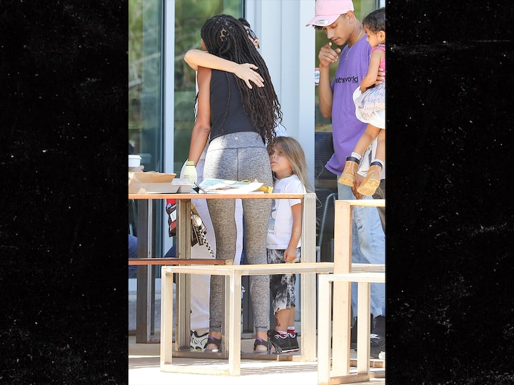 Kourtney Kardashian Hugs It Out with Willow Smith After Jordyn Drama