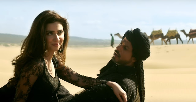 Mahira Khan in Raees, with SRK in Zaalima song