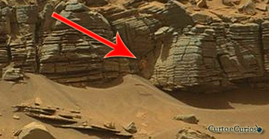 Monstro caranguejo em Marte - Monstro da caverna em Marte