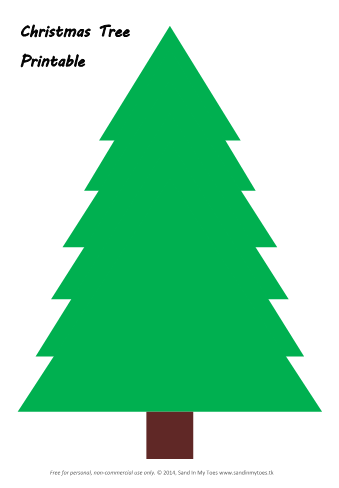 Free Christmas tree printable template