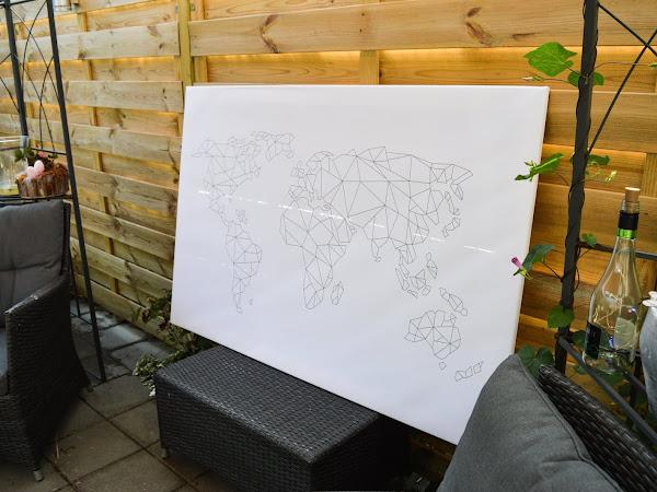 Wereldkaart op canvas | Review