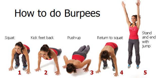 how to do burpees for weight loss