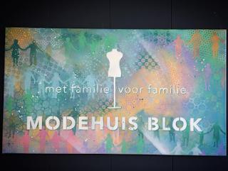 LogoSchilderij.EGD voor Modehuis blok