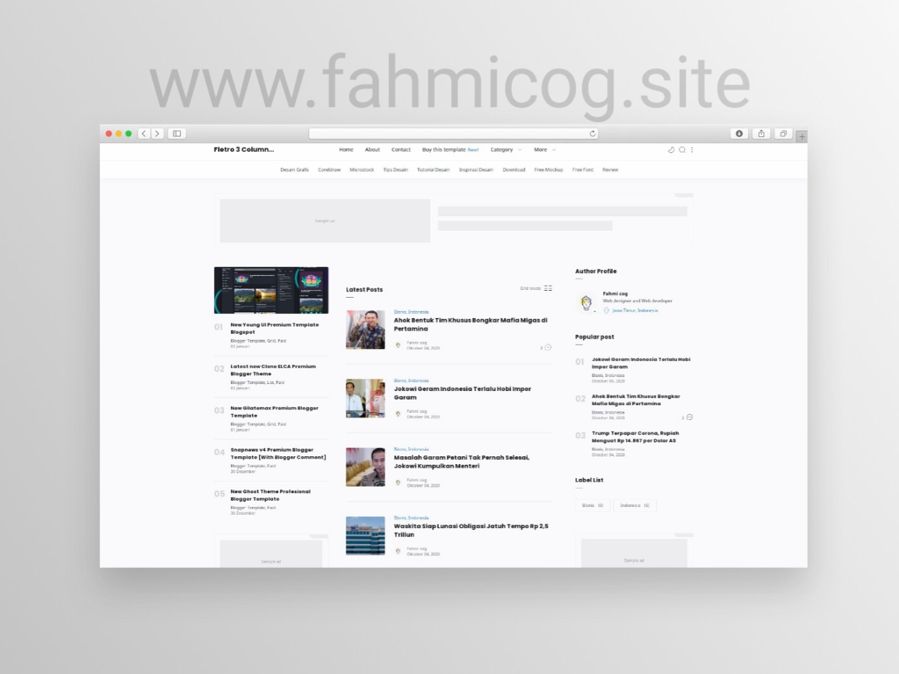 New Fletro Pro 3 Column Premium Blogger Template