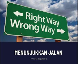 Menunjukkan jalan kebaikan