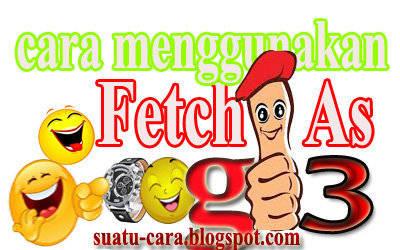Cara Menggunakan Fetch As Google Webmaster Tool Edisi Terbaru
