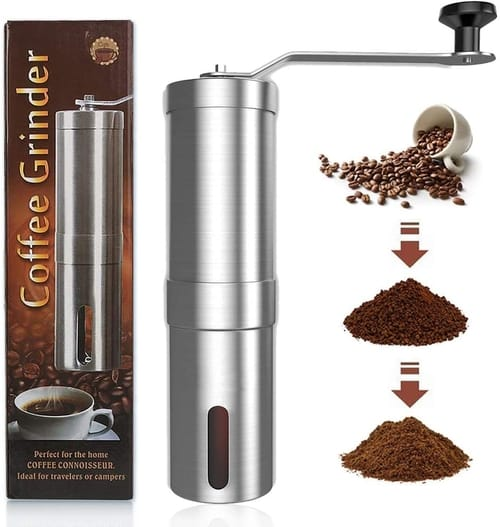 Zadmory Manual Portable Coffee Grinder