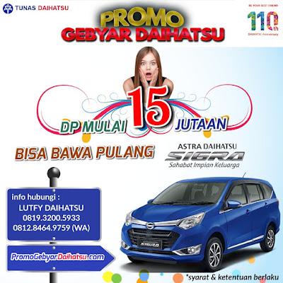 Promo Daihatsu Sigra Jakarta Timur, Dp Cuma 5 Jutaan!