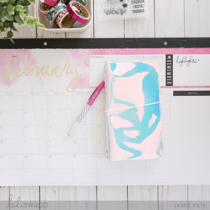 Heidi Swapp Fresh Start Collection Stencil with video by Jamie Pate | @jamiepate for @heidiswapp