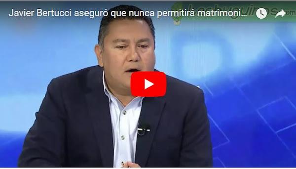 El Pastor Javier Bertucci prohibirá el matrimonio entre seres del mismo sexo