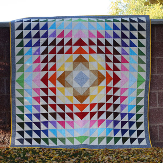 Rolling Meadows Quilt Designed by Meet Andrea of Knitty Bitties for Robert Kaufman Fabrics