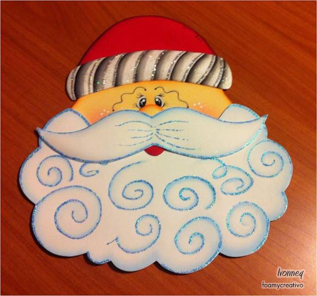 Adorno navideño en foami, Santa, Papa Noel, foami, Navidad