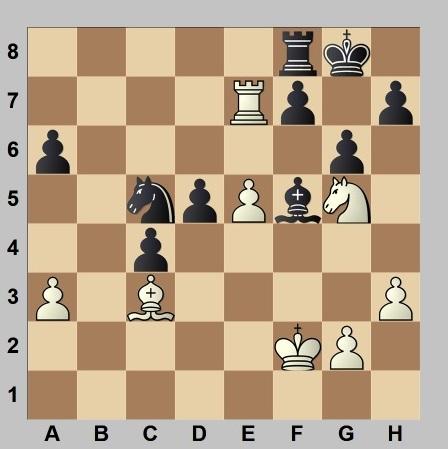 Partida de ajedrez Sicilia - Morán, Campeonato de España por equipos 1960