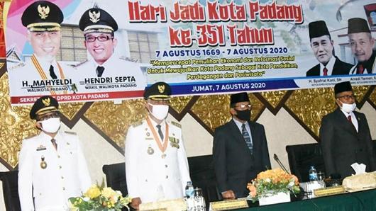 Kota Padang Peringati HUT Ke-351, Wako Mahyeldi: Mari Maknai Dengan Semangat Mengatasi Covid-19