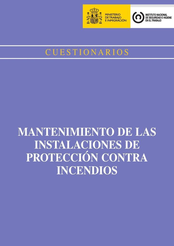 Cuestionarios mantenimiento de las instalaciones de protección contra incendios
