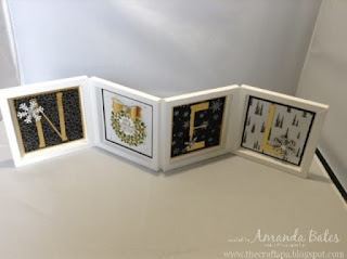 NOEL Quad Box Frame Card, Wonderful Wondrous Wreath