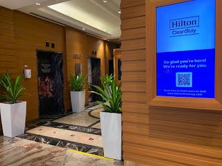 Hilton Singapore lift lobby