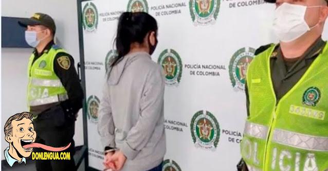 Venezolana detenida en Colombia por quemar con soda cáustica a una niña de 14 años
