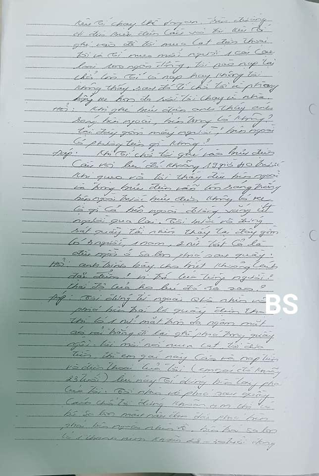 Lời khai của nguyên thiếu tá Đinh Văn Còi trong vụ án tử tù Hồ Duy Hải