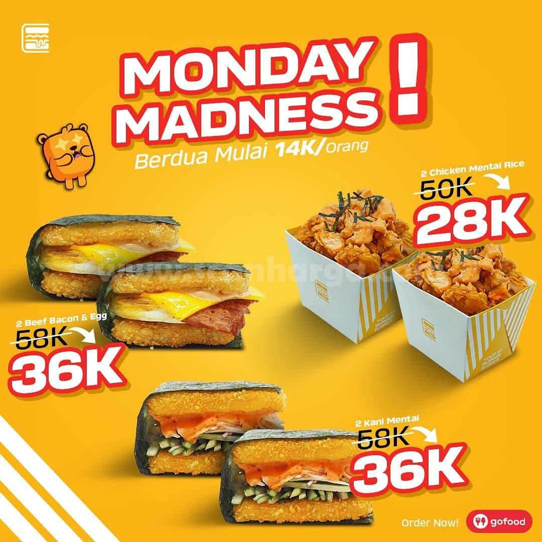BURGUSHI MONDAY MADNESS – Promo Paket Berdua mulai Rp 14.000 per orang