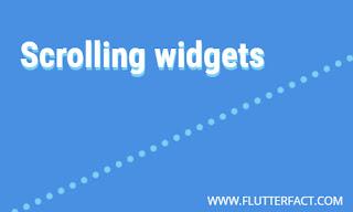 Scrollbar Widget in Flutter for mobile application, web Application or Desktop Application