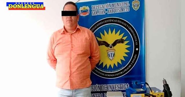 Detenido en Barquisimeto tan solo por vender puntos de venta robados