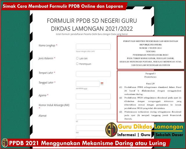 PPDB 2021 Menggunakan Mekanisme Daring atau Luring