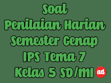 PENILAIAN HARIAN IPS TEMA 7 KELAS 5 SD/MI