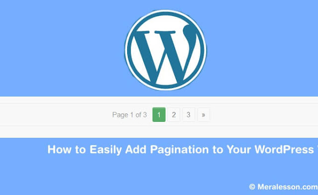 Add Paginnation to WordPress easily