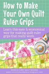 Make Your Quilt Ruler Grips - Quilting Tutorial