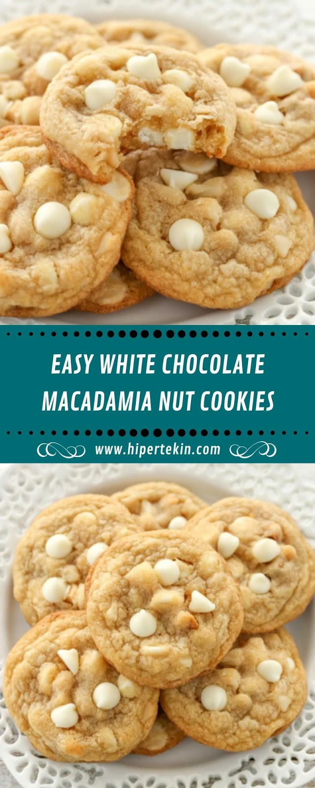 EASY WHITE CHOCOLATE MACADAMIA NUT COOKIES