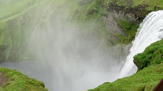 Water falling down