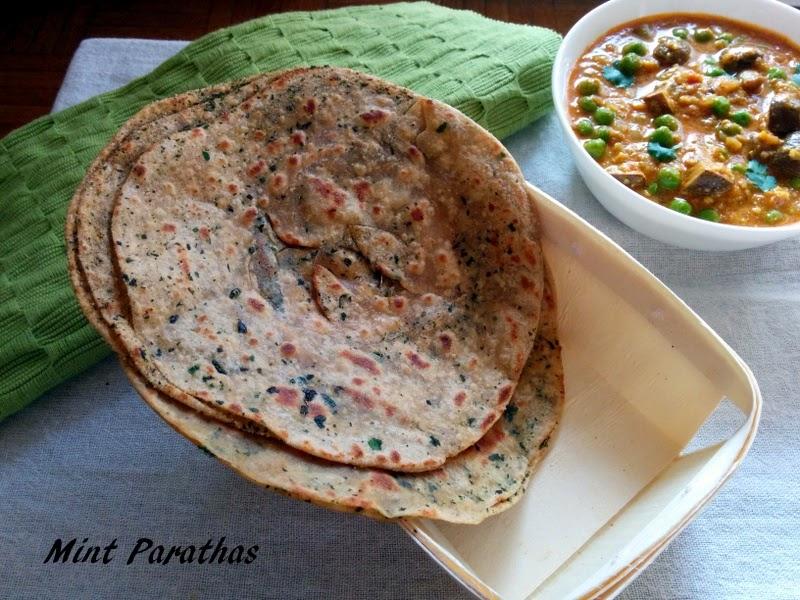 Recipe of Mint Paratha | How to Make Pudina Laccha Paratha, Wheat ...