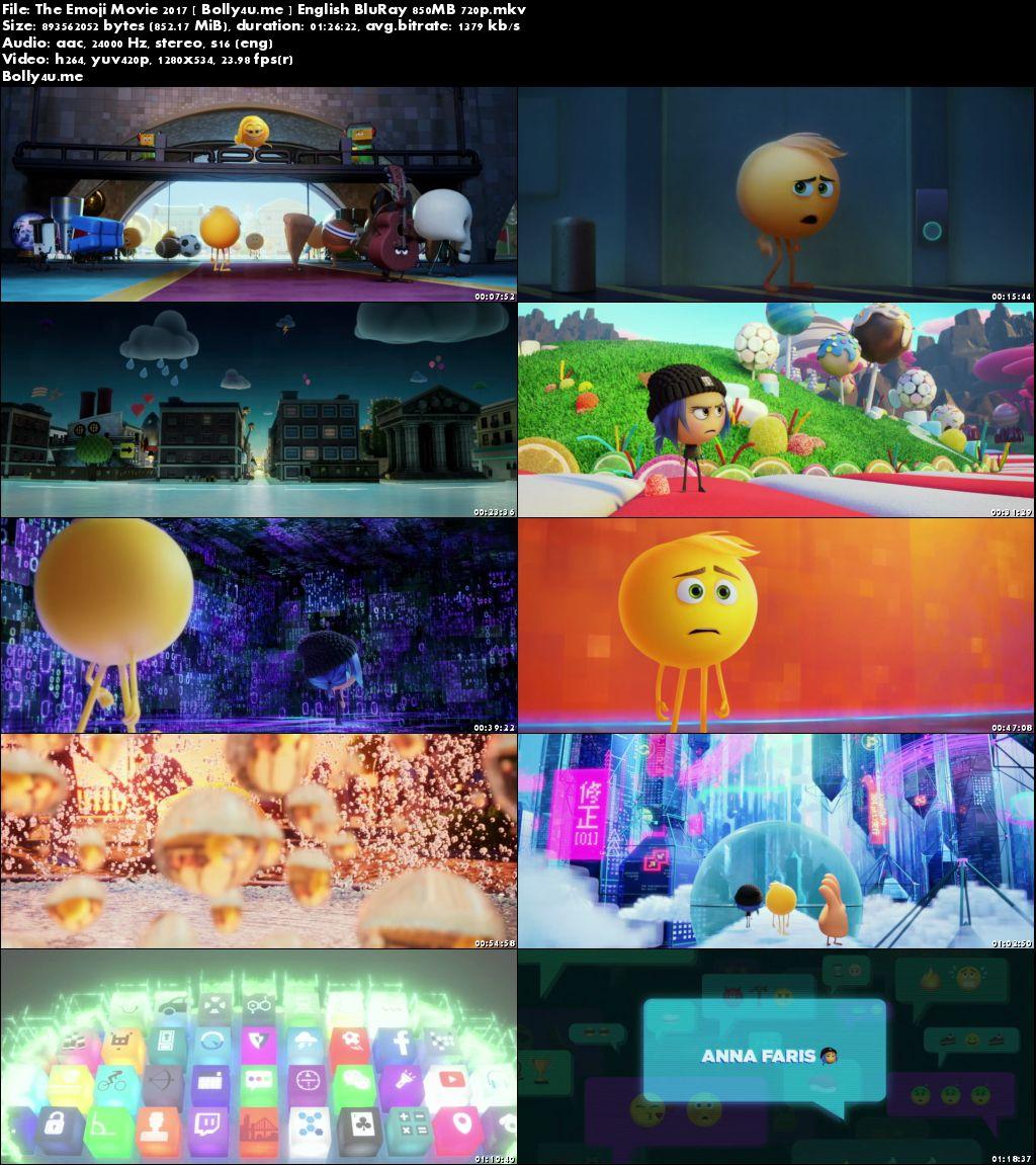The Emoji Movie 2017 BluRay 250MB Full English Movie Download 480p