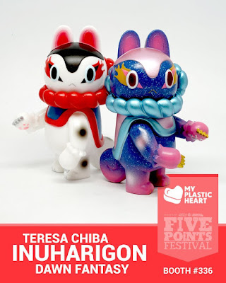 Five Points Festival 2018 Exclusive Inu-Harigon Dawn Galaxy Edition Vinyl Figure by Teresa Chiba x myplasticheart