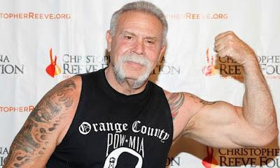 Paul Teutul Sr, showing his biceps