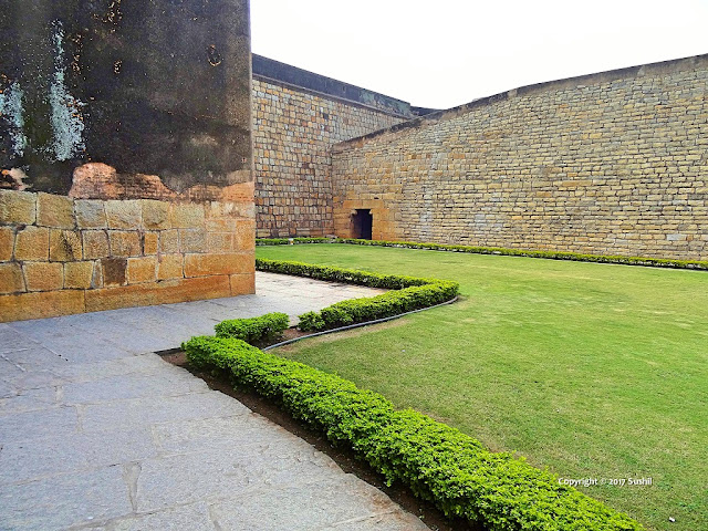 Open Lawn inside the Bangalore Fort