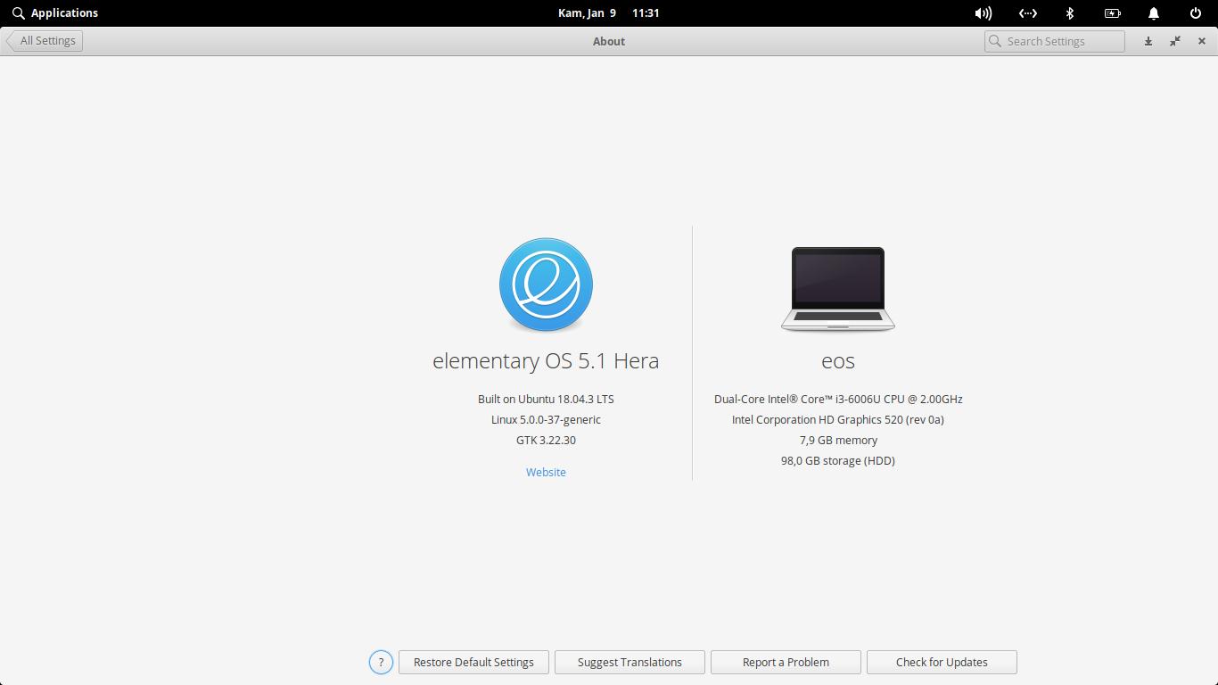 Upgrade Kernel elementary OS 5.1 Hera