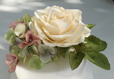 wafer paper rose class cake decoration