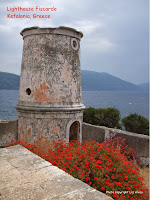 Lighthouse near Fiscardo on the island Kefalonia in the Ionian Islands of Greece. Copyright  Liz Alvey 2013